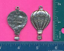 12 wholesale pewter hot air balloon pendants 5026