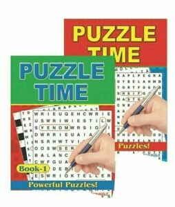Word Search & Puzzle Time Books Powerful Puzzles-152 Puzzles, A4 Books 1 & 2
