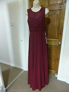 Pretty dark purple chiffon evening dress from Babyonline size 14