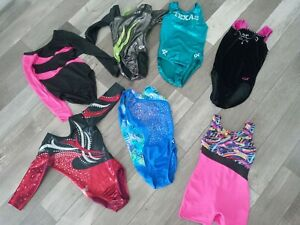 girls gymnastics leotard size 5/6 Lot Of 8 Pieces!