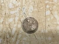 Holed 1850's  U.S. Silver 3 Cent Piece.