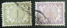 lot 44 Suriname 2 timbres anciens