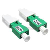 2pcs LC APC Female to Male Fiber Optic Attenuator 1~30db FTTH Fiber Attenuator