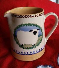 """Nicholas Mosse Pottery Ireland SMALL SHEEP JUG 4.3"""" 1990s Landscape Pattern"""