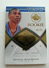 RUSSELL WESTBROOK 2008-09 UPPER DECK UD EXQUISITE GOLD BASE ROOKIE RC #9/25! SP!