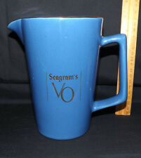 Seagram's VO. Pitcher. Laurentian Pottery.
