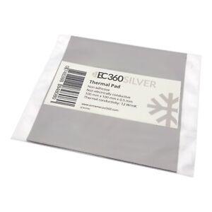 EC360® SILVER 12W/mK Wärmeleitpad (100 x 100 x 0,5 mm) I ThermalPad GPU RAM CPU