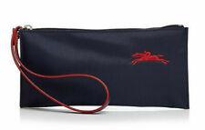 Longchamp Le Pliage Club Medium Cosmetic Case Flat Nylon Wristlet ~NEW~ Navy