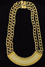 Gold Plated Stainless Steel Half Oval Chain