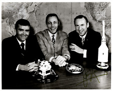 Signed (by Astronaut James Lovell) Photograph of Apollo 13 Astronaut Crew
