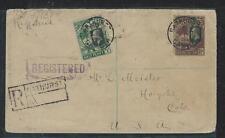 GAMBIA (P0404B)  KGV 1/2D+7 1/2D ELEPHANT REG BATHURST TO USA 1928