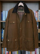 rare Mens Barbour Frazer Utility Field smart brown waxed jacket size L Large 40
