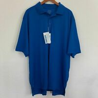 NWT Mens Size 4XL Extreme Eperformance Stride Jacquard Polo Shirt Nautical Blue