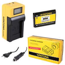 Batteria Patona + caricabatteria Synchron LCD USB per Samsung ES80,ES81,ES90