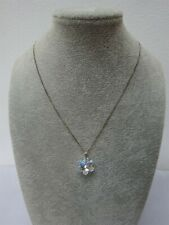 Sterling Silver Chain with Swarovski Crystal Pendant Star/Flower/Snowflake