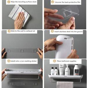 Hot  Bathroom Shelf Organizer Wall Mounted Shampoo Spices Shower Storage