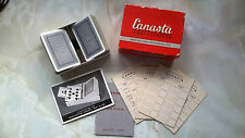 Vintage Canasta Cards with Tray (Boxed, with Instr. & Score Sheets)