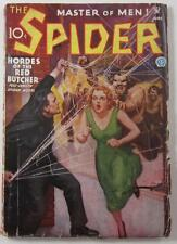 SPIDER PULP MAGAZINE JUNE 1935 HORDES OF THE RED BUTCHER NORVELL PAGE