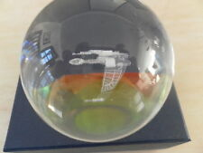 STAR TREK CRYSTAL GLASS BALL KLINGON BIRD OF PREY