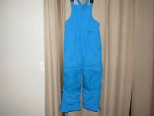 LANDS END bibs bib overalls snowboard ski squall pants kids 12H 12 husky blue