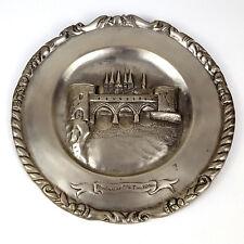 Souvenir Tin Plate Belgium Tournai le Pont des Trous Bridge of Holes Medieval