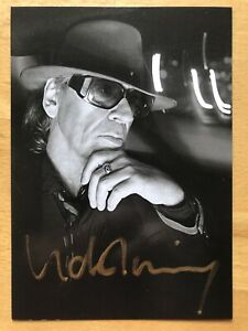 Udo Lindenberg AK Auf Tour im März 2012 Autogrammkarte original handsigniert