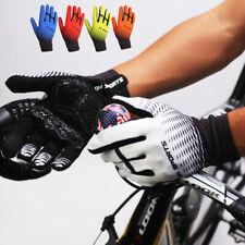 Cycling Gloves Mens Mountain Bike Touch Screen Non-slip BMX Gloves Full Finger