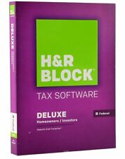2015 H&R Block turbo DELUXE Federal Tax Cut New sealed CD in Box formerly TaxCut