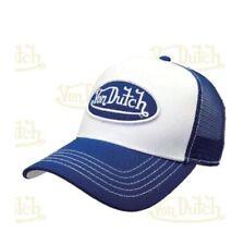Von Dutch Baseball Cap Blue Curved Peak Trucker Adjustable Mesh Snapback Hat