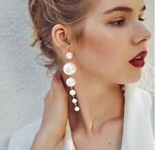 Fashion Simulated White Pearl Ball Dangle Earring For Women Long Earring Jewelry