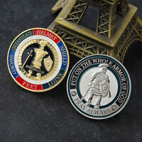 HK- Embossing Armor of God Soldier Round Commemorative Coin Collection Souvenir