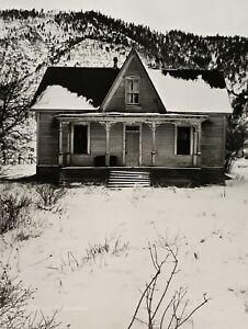 1960/72 Vintage ANSEL ADAMS Winter Farm House Nevada Landscape Photo Art 11X14
