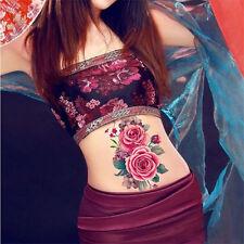 Women Waterproof Temporary Fake Tattoo Sticker Chinese Painting Peony DIY Decals