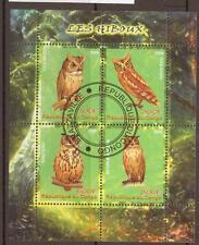 Congo Sheet Bird Postal Stamps