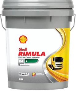 Shell Rimula R4L Low Emmission - HD Diesel oil - 20 litre drum