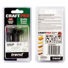 Trend T420/35X8MMTC TCT Hinge Cutter Cyclinder Router Bit 35mm x 8mm