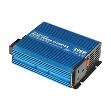 300W 12V Pure Sine Wave Power Inverter 230V AC for Motorhome, Boat or Off-grid