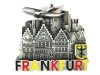 Frankfurt Römer Skyline Flugzeug Metall Magnet Souvenir Deutschland Germany (6)