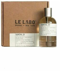 Le Labo Santal 33 Eau de Parfum EDP 3.4 fl.oz / 100 ml Spray Unisex New in Box