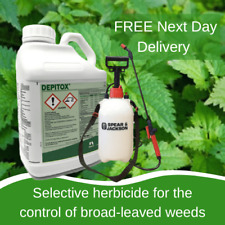 DEPITOX SELECTIVE WEED WEEDS KILLER 5L GREAT AT CONTROLLING RAGWORT WITH SPRAYER