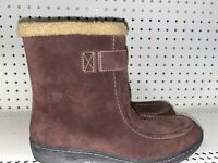Timberland Womens Suede Waterproof Insulated Winter Snow Boots Size 10 Brown