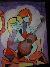Guitar Girls 11 X14 Original Acrylic Painting
