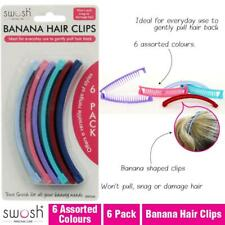 6 x Banana Grips Slide Clamp Clips Women Hair Plastic Claws Hairpin Banana Clips