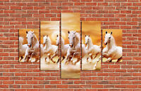 NO FRAME Abstract Decor Art Oil Painting Dusk Running White Horse on Canvas