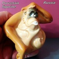 Gorilla Monkey Figurine porcelain from Russia funny animals