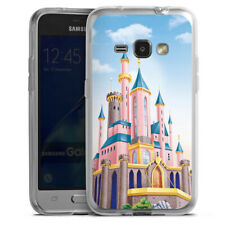 Samsung Galaxy J1 (2016) Silikon Hülle Case Handyhüle - Disney Castle