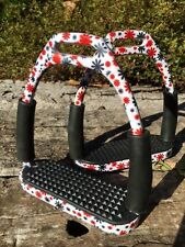 Stirrups Floral Pattern Flexi Stirrups Stainless Steel Flower Safety Stirrups