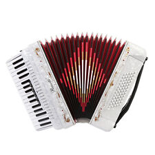 Rossetti 3460 60 Bass 34 Keys 5 Switch Piano Accordion - White w/ Hard Case!