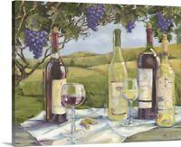 Vineyard Wine Tasting Canvas Wall Art Print, Wine Home Decor