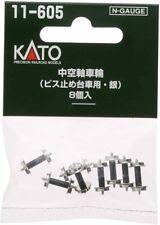 N gauge 11-605 hollow shaft wheel screws truck for silver 8 pieces japan